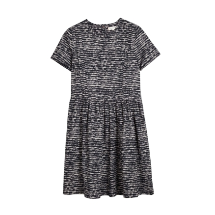 chinti and parker cotton pintuck dress grey and navy